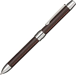 セーラー万年筆 多機能ペン 2色+シャープ レフィーノl 牛革 ダークブラウン 16-0319-282