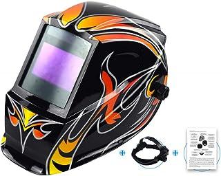 LYY Máscara de Soldadura Solar con atenuación automática y Lente Ancha, Rango de Sombra Ajustable