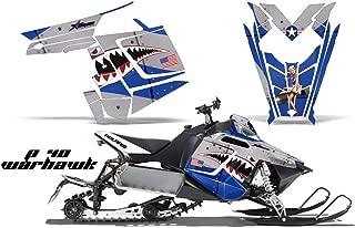 2011-2014 Polaris PRO-R, RMK, Rush, Switchback, Assault AMRRACING Sled Graphics Decal Kit - P40 Warhawk - Blue