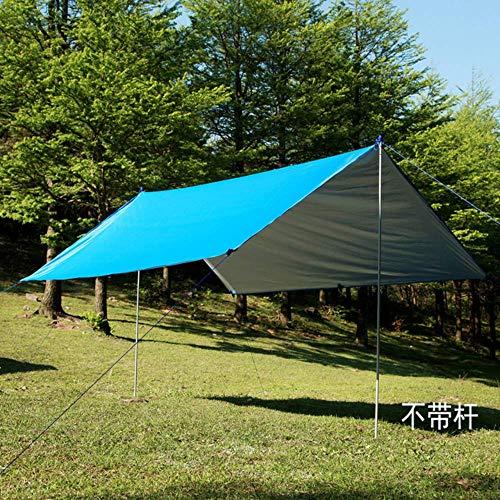 Guomao Silberbeschichtung Wasserdichte Hängematte Markisenüberdachung Zelt Tarp Beach Camping Tragbare Pergola Sonnenschutz im Freien(Color:Blau)