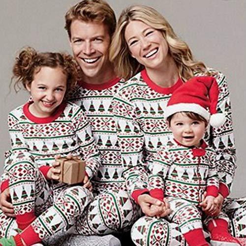 Banbie 851 Familienweihnachtspyjamas Familien passende Kleidung Vater Mutter Tochter Mädchen Junge Kostüm Anzug Pyjama Familienauftritt
