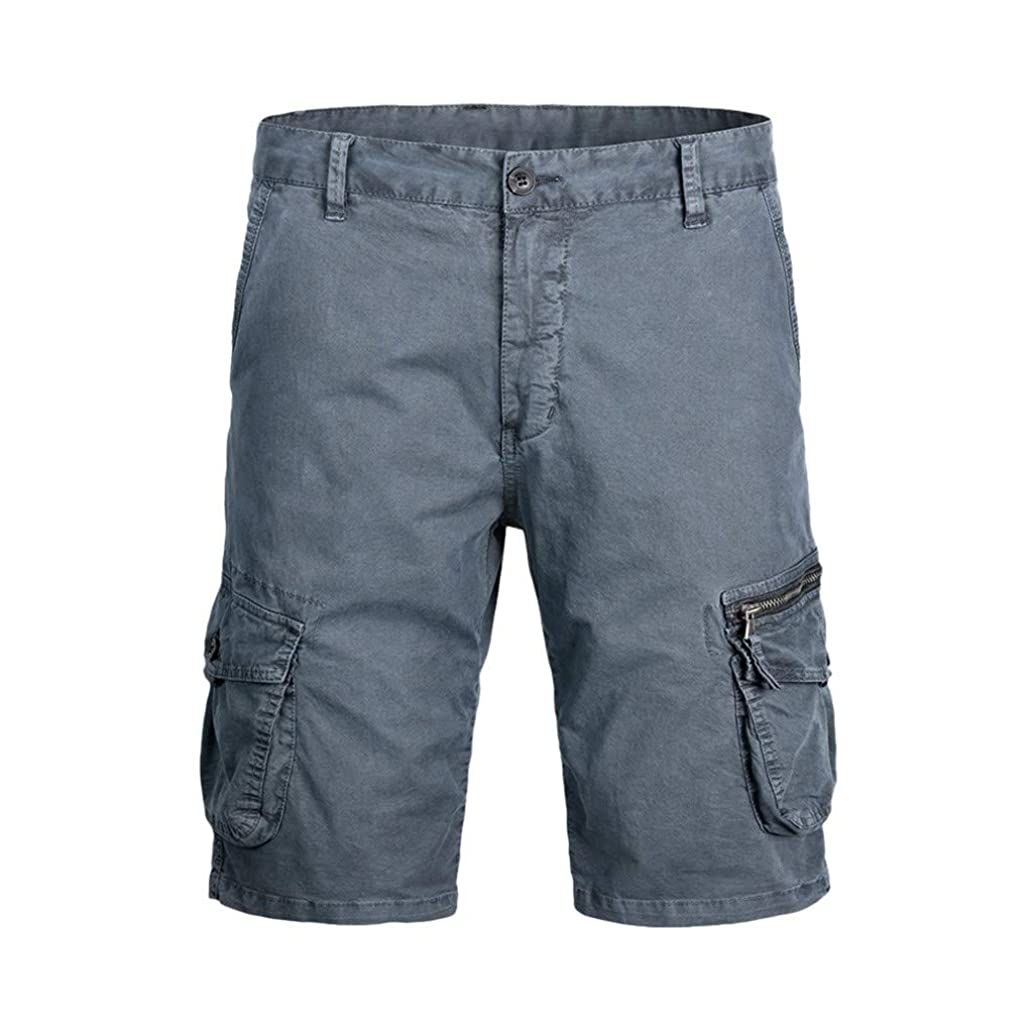 Men's Outdoor Casual Expandable Waist Lightweight Water Resistant Quishorts Dry Cargo Fishing Hiking Shorts
