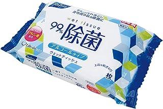 ライフ堂 ウェットティッシュ ヒアルロン酸配合 ホワイト 約横12.5cm×縦20cm(1枚あたり) 99%除菌 ノンアルコールタイプ 日本製 LD-108 60枚入1個セット