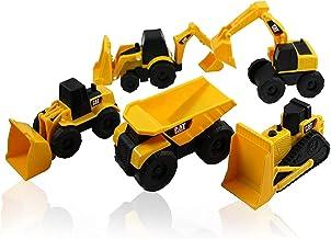 Caterpillar CAT Mini Machine Construction Truck Toy Cars Set of 5, Dump Truck, Bulldozer,..
