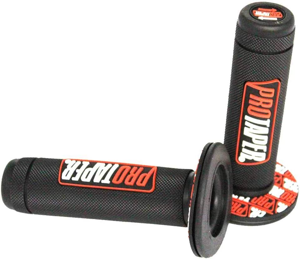 Dirt Pit Bike Grips rubber Pro Taper Full Diamond pattern Fit 7//8 standard handbar Orange