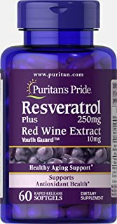 Puritans Pride Resveratrol 250 mg, 60 Count