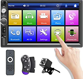 Double Din Car Stereo with Bluetooth 7 Inch Touchscreen Car FM Radio Receiver with AUX/Dual USB SD Port Support DVR Mirror... photo
