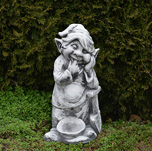 """Lustiger Gnom ,,ich mache den Garten schön"""" aus Steinguss, frostfest - 3"""