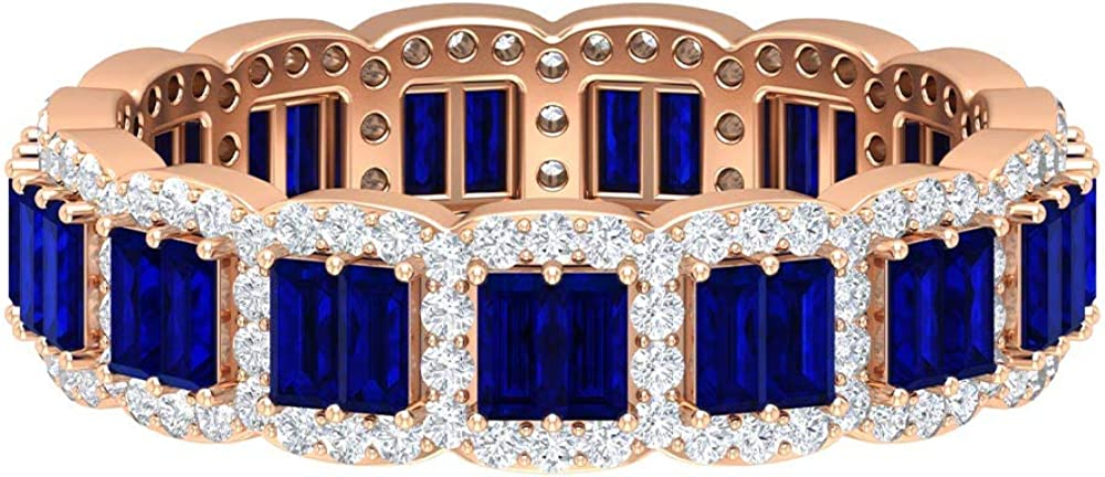 price 2.16 CT Baguette Shape Certified Eternity September B Birthstone Complete Free Shipping