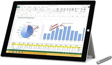 Microsoft Surface Pro 3 Tablet (12-Inch, 64 GB, Intel Core i3, Windows 10) (Renewed)