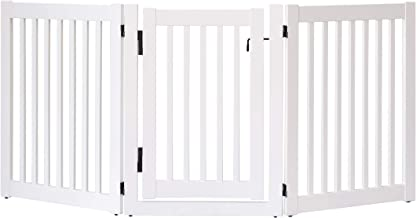 """product image for Dynamic Accents Amish Craftsman Highlander Series Solid Wood Pet Gates are Handcrafted 32"""" High - 3 Panel Walk Through/White"""