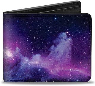 Buckle-Down Mens Buckle-down Pu Bifold - Galaxy Purple/Pinks Bi Fold Wallet, Multicolor, 4.0 x 3.5 US
