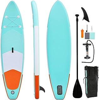 LUKUCEA Tabla Hinchable Paddle Surf 350CMx84CMx15CM Almohadilla integrada, Aleta Desprendible, Doble Remo Ajustable, Kit de Reparació Carga hasta 110 kg