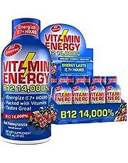 VitaminEnergy B12 14000% Shot, Zero Sugar Energy Shot, Dietary Supplements, Keto Friendly Energy, 0 Carbs Drink, Vitamin B12 Shots, Up to 7+ Hours of Energy, Acai Pomegranate, 1.93 Fl. Oz.