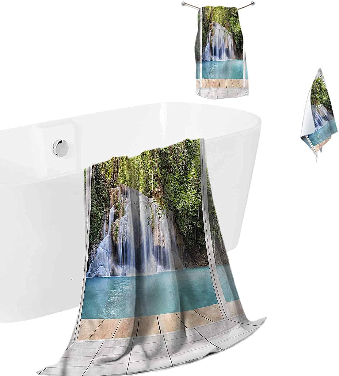 3 Piece Bath Towel unisex Set Absorbent Max 65% OFF Nature wit Quick-Dry Waterfall