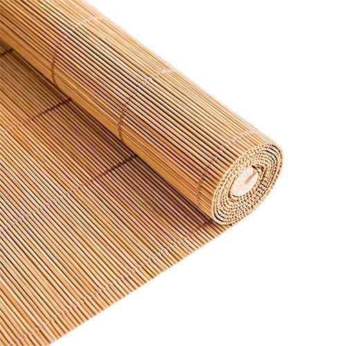 Gordijn van bamboe Persianas de Bambú, Cortinas de Privacidad de Persianas de Madera con Tirador Lateral para Puerta de Dormitorio Interior y Exterior, 70/90/110/130 cm de Ancho (Size : 70x130cm)