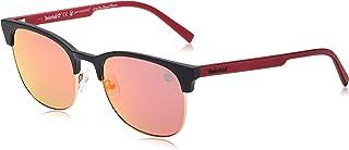 نظارات شمسية للرجال من تيمبرلاند TB917705D53 - اسود/ رمادي داكن مستقطبة - مصنوعة من مادة محقونة