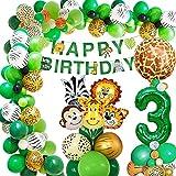 AcnA Selva Decoración Cumpleaños Niño 3 año, Selva Globos Fiesta Cumpleaños niño 3 año with Safari Decoracion Cumpleaños Animales Globos para Infantil Niño 3 Jungla fiesta de cumpleaños