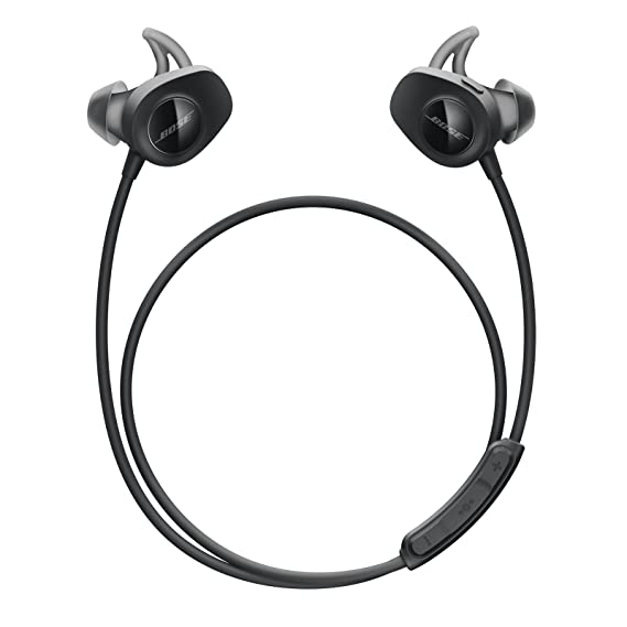 Bose SoundSport, Wireless Earbuds, (Sweatproof Bluetooth Headphones for Running and Sports), Black