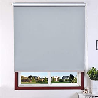 """Kayra Decor Blackout Window Roller Blind for Bedroom, Kitchen, Sliding Door and French Door, Size - 50""""(W) X 52""""(H), Grey"""