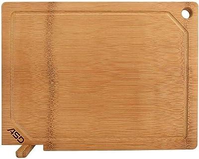 LAOHAOスナックプレート 長方形の木製の果物食品家庭の台所まな板の40x30x1.8cm