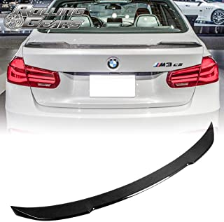 Rolling Gears Carbon Fiber Rear Trunk Spoiler Fits BMW F30 Sedan and F80 M3 (CS Style)