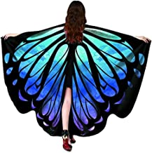 2018 New Womens Halloween/Christmas/Party Butterfly Wings Shawl Cape Scarf Fairy Poncho Shawl Wrap Costume Accessory…