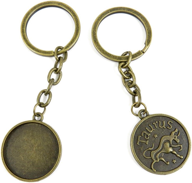 170 Pieces Fashion Jewelry Keyring Keychain Door Car Key Tag Ring Chain Supplier Supply Wholesale Bulk Lots I9CM8 Taurus Cabochon Blank Base