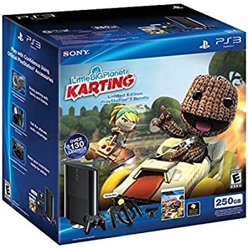 PS3 Slim 250GB Little Big Planet Karting Move Bundle  PlayStation 3