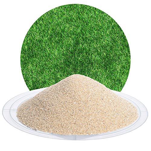 25 kg Spezial Rasensand zur Rasenpflege, Bodenauflockerung, für grünen Rasen, zur Belüftung des Bodens von Schicker Mineral (Premium-Rasensand, 0,4-0,8 mm)
