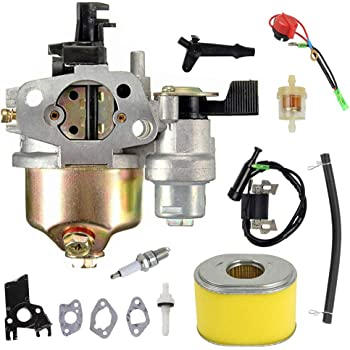 For Honda GX160,5.5HP Carburetor Kits Ignition Coil Spark Plug Replacement Parts