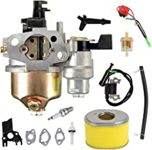 GX160 Carburetor+Ignition Coil Air Filter Kit for Honda GX120 GX140 GX160 GX168 GX200 5.5hp 6.5hp Small Engine Generator Lawn Mower Motor Replaces# 16100-ZH8-W61
