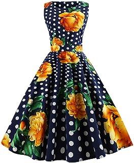 レディース ノースリーブ ヴィンテージ ブラウン ドレス グカクテルドレス フローラル膝丈 コットン ハワイアン フレアタンクドレス