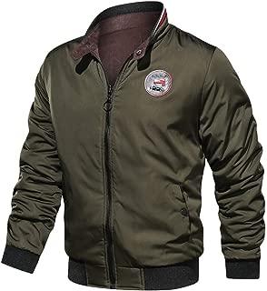 JJHAEVDY Men's Full Zip Reversible Casual Jacket Softshell Lightweight Breathable Windbreaker Cotton Autumn Winter Coats