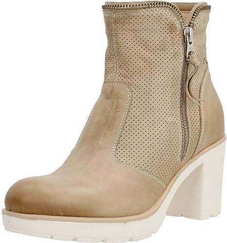 botas para mujer, Color Hueso, Marca negro GIARDINI, Modelo botas para mujer negro GIARDINI P717113D Hueso