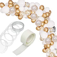 123 pcs Balloon Arch & Garland Kit - 16Ft Long Gold Confetti Balloon Silver Gold and White Balloon Arch kit for Birthday Baby Shower Wedding Bachelorette Party Decorations