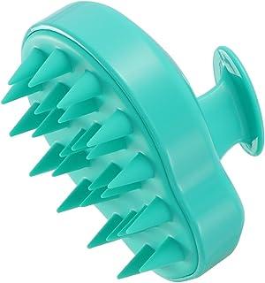 FRCOLOR Shampoo Scalp Head Shower Massager Body Neck Massage Brush Cleaning Clean Scrub Hair Brush (Cyan)