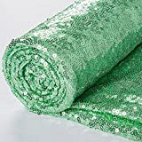 3 Feet 1 Yards-Sequin Fabric, by The Yard, Sequin Fabric, Tablecloth, Linen, for Xmas Decor (1 Yard, Mint Green)