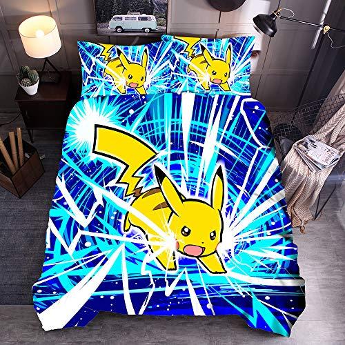 QTBT Pokemon Duvet Set Reversibile Pikachu (Pikachu #3, 200 x 200 cm)