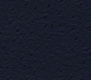 Vinyl Fabric Ostrich Navy Blue Fake Leather Upholstery / 54