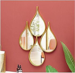 CJY-mirror Forma de Gota de Agua Espejo de Pared Arte de Hierro Forma Creativa 3D estéreo, Espejos de Pared Forja a Mano Shabby Chic, Decoración Decorativa de Pared para el hogar Entrada