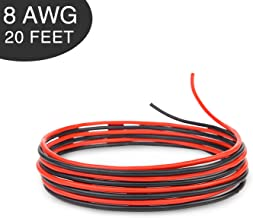 Bryne 8 Gauge Ultra Flexible Silicone Wire 20 Ft [10 Ft Red and 10 Ft Black],1650 Strands 0.08mm of Tinned Copper,High and Low Temperature Resistance -60~200 Degree C (8 AWG, Red&Black)