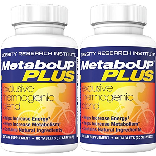 Lipozene MetaboUP Plus - 2 60 Ct Bottles - Thermogenic Weight Loss Fat Burner With Green Tea and Cayenne Extract - Energy Booster Pills