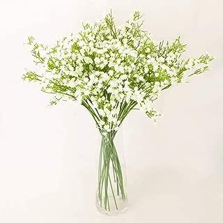 WinnsFlora 10 Branches (Pcs) Gypsophila Baby Breath Artificial Flower Bouquet, Approx. 900 Beautiful WHITE Flowers for Wedding Bridal Party Home Floral Arrangement Decor