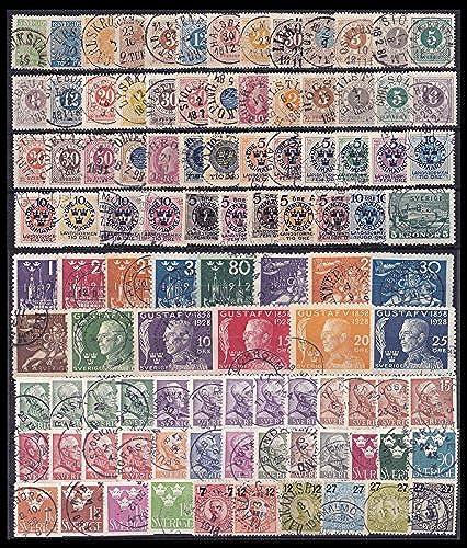 Goldhahn Schweden Altkollektion aus 1858-1939 gestempelt Briefmarken für Sammler