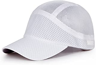 LPKH Sun Hat Outdoor Riding Mesh Breathable Baseball Cap Outdoor Sports UV Protection Visor, Unisex hat (Color : White)
