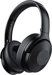 Noise Cancelling Headphones with Mic, 45Hrs Playtime Wireless 5.0 Headphones Over Ear, Fast Charge, Hi-Fi Deep Bass, Comfy...