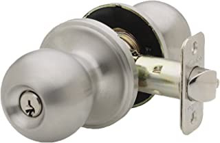 Copper Creek BK2040SS Ball Entry Door Knob, Satin Stainless