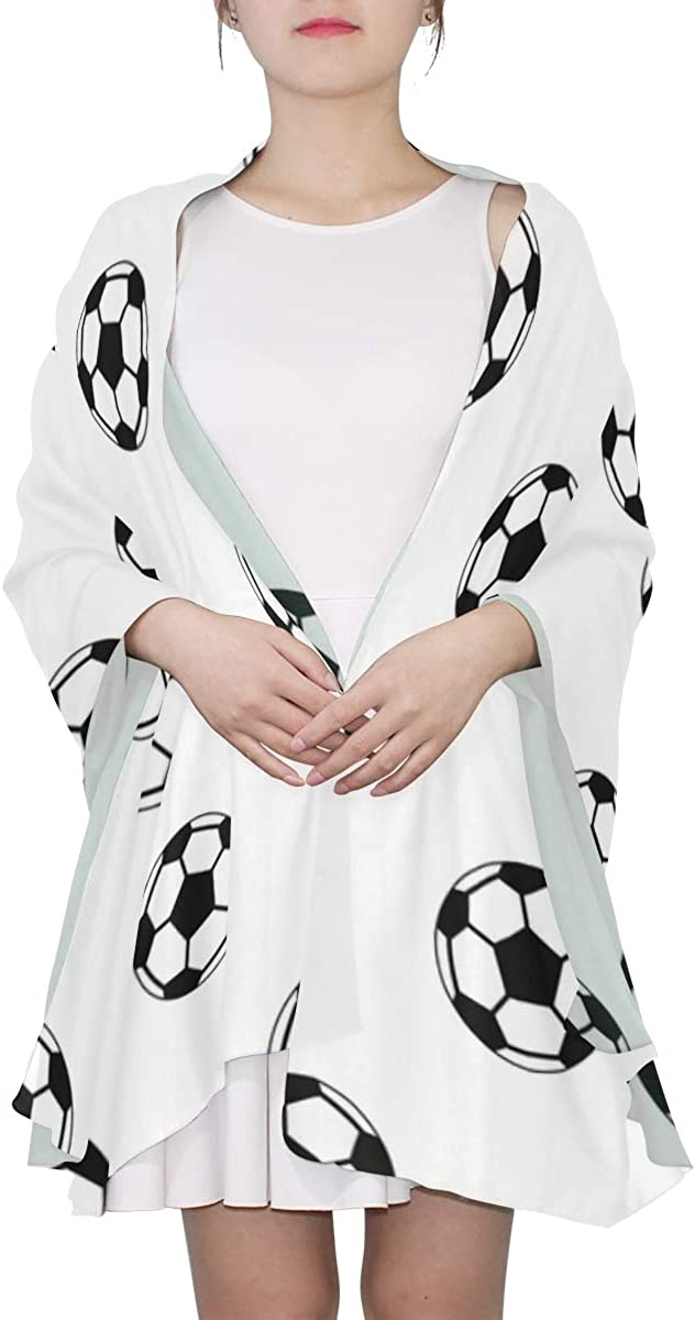 Colorful Football Soccer Sport Unique Fashion Scarf For Women Lightweight Fashion Fall Winter Print Scarves Shawl Wraps Gifts For Early Spring
