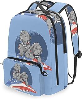 Mochila con bolsa de cruz desmontable Set American Dogs Computadora Mochilas Bolsa de libro para viajes Senderismo Camping Daypack
